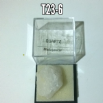Quartz  natural Crystal specimen in display box #2
